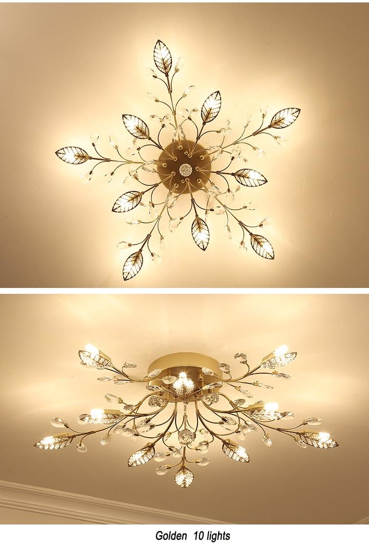 H907872e787984de893f645231d11f734D Modern ceiling light for living room led Crystal ceiling lamp bedroom crystal lamps dining gold loft lighting Crystal Fixtures