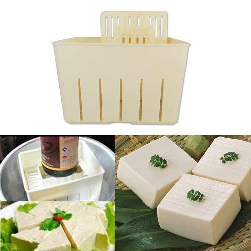 Cooking Utensils DIY Plastic Tofu Press <font><b>Mould</b></font> Soybean Curd Tofu Making Box Mold Kitchen Cooking Tool Set Homemade <font><b>Cheese</b></font> Mold image