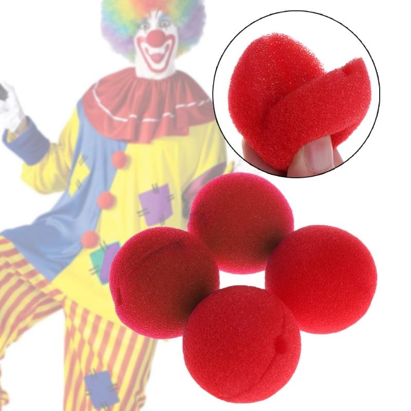 25Pcs Sponge Ball Clown Nose For Christmas Halloween Costume Party Decoration R9UE