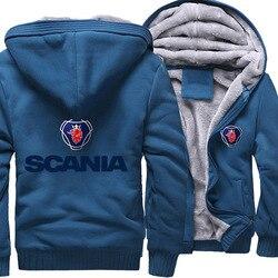 Winter Geborsteld En Dikke Men's Wear Hot Selling Katoen Hoodie Zip-Up Jas Scania Casual Jas