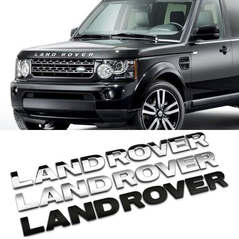 Carta 3d capô do carro capa emblema para land rover range rover velar sport discovery 2 3 4 defender frente chrome cabeça adesivo|Adesivos para carro|   -