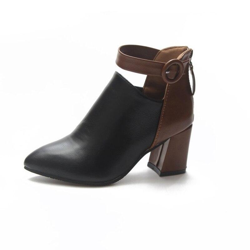 Купить женские туфли на танкетке mudibear черные массивном каблуке