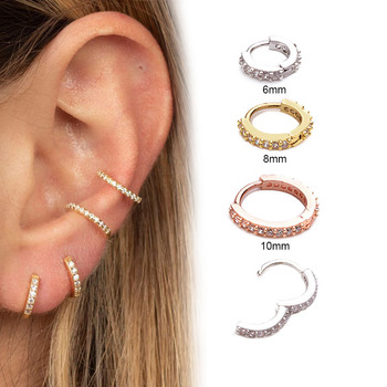 Feelgood 1Pc 6mm to 10mm Cz Cartilage Hoop Earring Small Hoops Helix Tragus Rook Daith Snug.jpg 350x350 - Feelgood 1Pc 6mm to 10mm Cz Cartilage Hoop Earring Small Hoops Helix Tragus Rook Daith Snug Piercing Jewelry