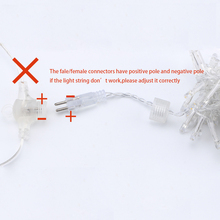 4×2.5m connectable led racimos wedding string lights christmas fairy light led garland outdoor for garden party tree patio decor
