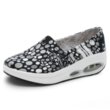 Women Toning Shoes Height-Increasing Non-Slip Wedge Heel Sport Footwear Canvas Thick Sole Trainers Breathable Sports Sneakers