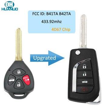 Ulepszony 4 przyciski zdalny klucz składany FOB dla-Toyota Camry Corolla Hilux 2005-2008 4D67 Chip 433.92mhz FCC ID : B41TA B42TA