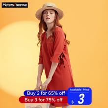 Metersbonwe/шикарное женское платье для девочек, бренд, Новое поступление, горячая Распродажа