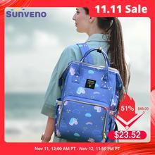 Sunveno bolsa de pañales de gran capacidad, bolsa de pañales para bebés, mochila de viaje, organizador de cochecito, bolsa para cuidado del bebé para mamá, equipo de actividades