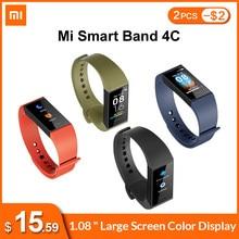 Inglês versão xiaomi mi banda 4c 4 c smartband 1.08