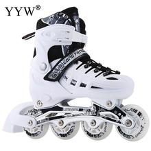 Flat Roller skates Skating Shoes Sliding Inline Sneakers 4 wheels 1 Row Line Outdoor Training Gym Sports Boys Girl Women Adult