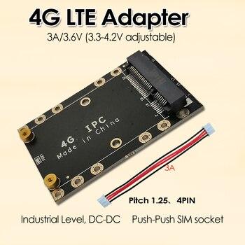 4G LTE Industrial Mini PCIe to USB Adapter W/SIM Card Slot USB 2.0 4PIN PH1.25 Connector for WWAN/LTE 3G/4G Wireless Module 2 4g wireless red laser scanner gun w usb receiver black