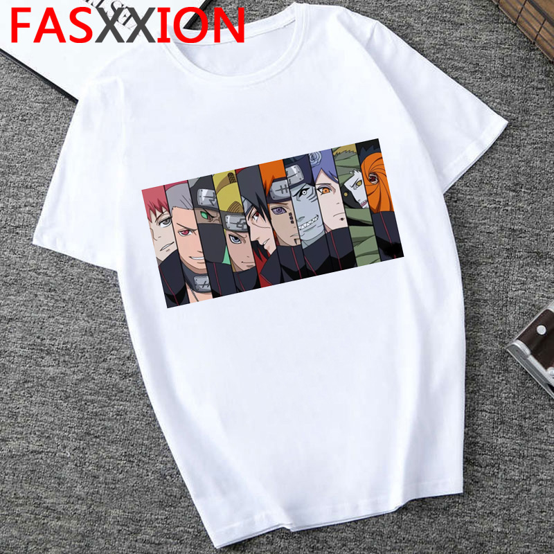 Naruto T Shirt Men Hot Japanese Anime  Harajuku Tshirt 2020 Hip Hop  Graphic Tees Cool Cartoon 90s  Streetwear Male