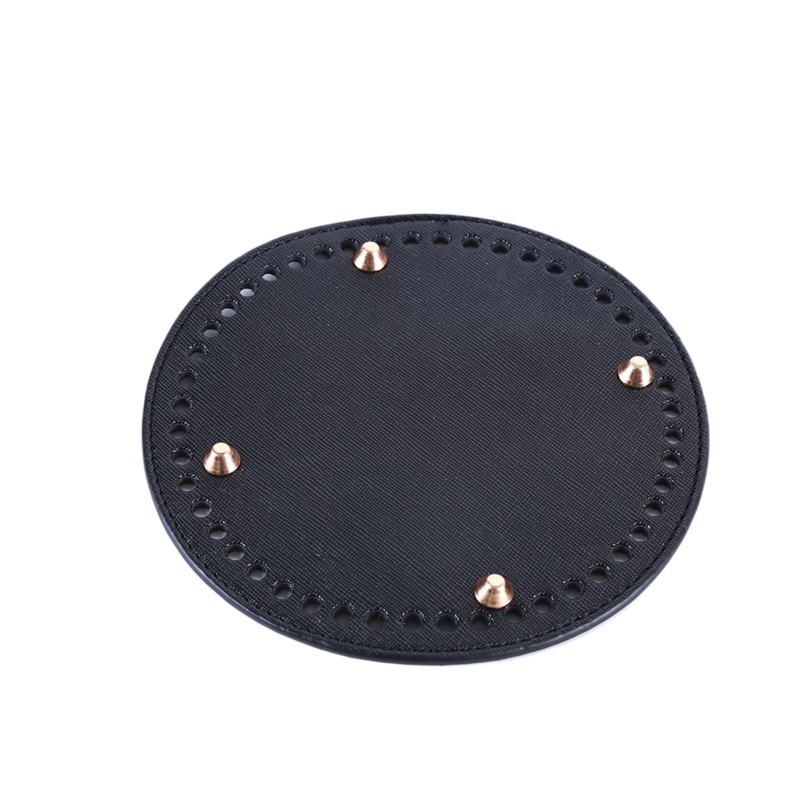 High Qualtiy Round Leather Bottom With Holes Rivet For Handbag Knitting Bag DIY Women Shoulder Crossbody Bags Accessories