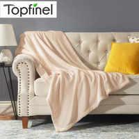 Topfinel-Manta polar de Coral blando para niños, manta de invierno de alta densidad, sofá cama, coche, siete colores, tamaño múltiple