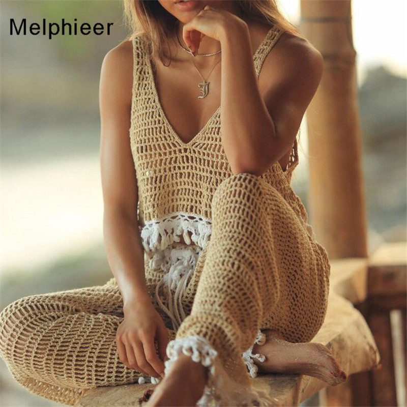 Melphieer Girls Tank Crop Crochet Shells Bikini Top Knitted Biquini Top Nude Black Swimsuit Women Bathing Suit Beach Swimwear image