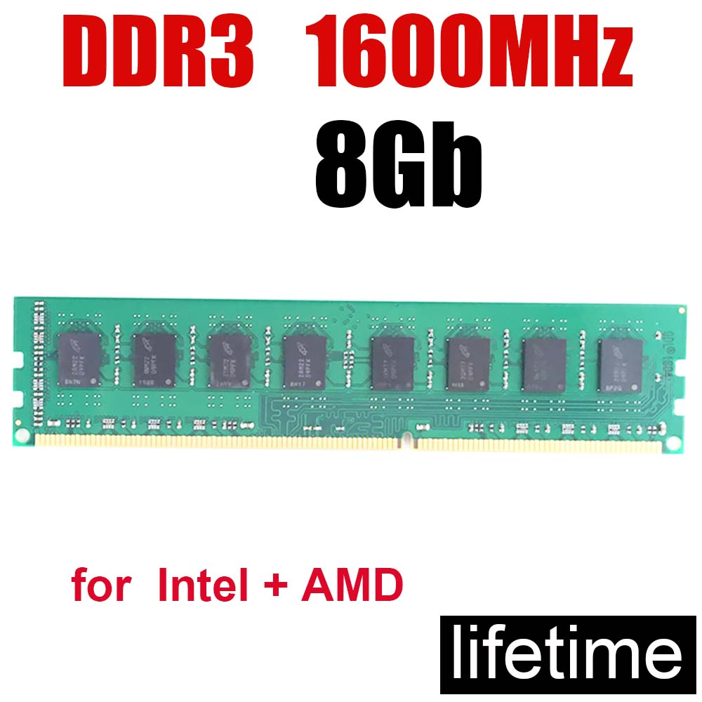 1600MHz Memoria RAM Ddr3 8gb 1600 8G 8 Gb / PC3-12800 Memory 4Gb 2Gb 16Gb / Design Work Game All No Problem / Lifetime Warranty