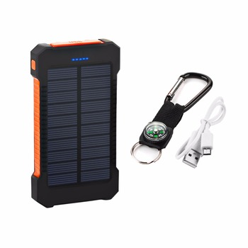 20000mAh Top Solar Power Bank Waterproof Emergency Charger External Battery Powerbank For Xiaomi MI iPhone Samsung LED SOS Light 3