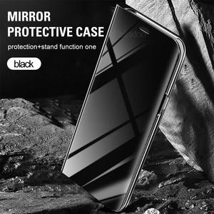 Image 4 - スマートミラーフリップ電話のカバーoppo realme 8プロケースRealme8 realmi realmy 8Pro Realme8pro磁気coque fundas