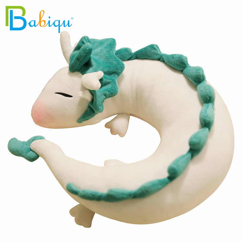 Fashion Cartoon Dragon Anime Miyazaki Hayao Spirited Away Haku Cute U Shape Doll Plush Toys Pillow Dolls Gift For Children&Kids