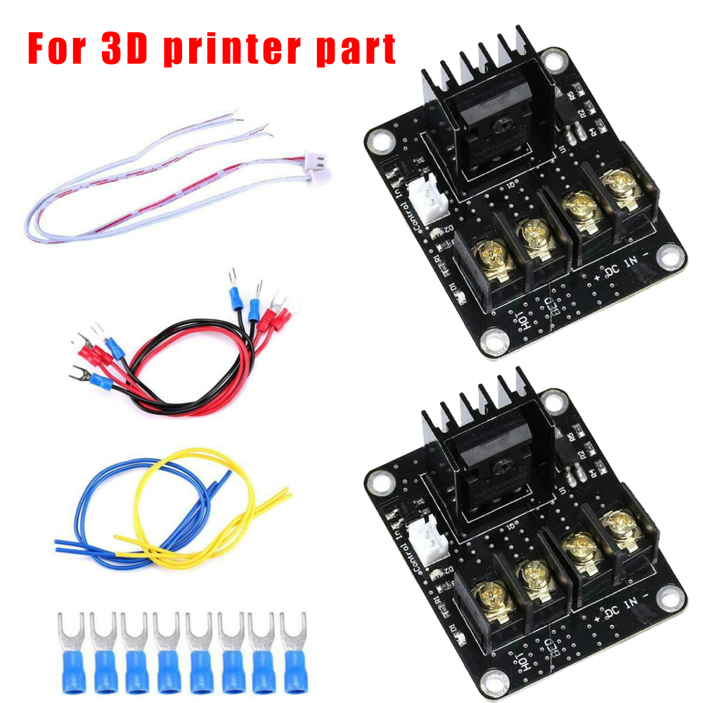 2 Set Heated Bed Power Module Kit Anet MOSFET Board For 3D Printer Part