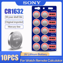 10 шт./лот Sony CR1632 CR 1632 LM1632 BR1632 ECR1632 3V литиевая батарея для часов Автомобильный ключ пульт дистанционного управления
