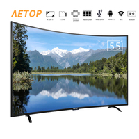 free shipping bluetooth led curved screen tv 4k HD 55 inch television android smart tv with wifi