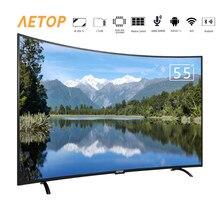 Smart tv 4k HD, pantalla curva led, bluetooth, 55 pulgadas, android, con wifi, envío gratis