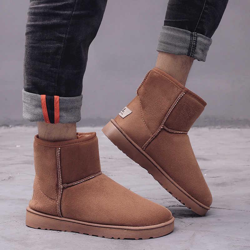 Yeni avustralya kadın kar botları 100% hakiki inek derisi deri yarım çizmeler sıcak kış çizmeler kadın ayakkabı büyük boy 35-42