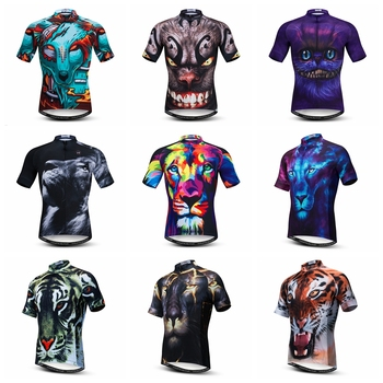 Weimostar Summer Cycling Jersey Short Sleeve Men 3D Wolf Lion Cycling Clothing Quick Dry MTB Bike Jersey Tops Road Bicycle Shirt ultra light hooded bicycle jacket bike windproof coat road mtb aero cycling wind coat men clothing quick dry jersey thin jackets
