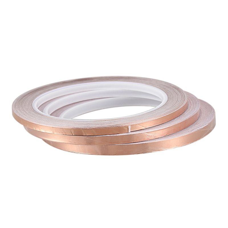 One Side Conductive Shield Copper Foil Tape 10mm X 30m X0.06mm