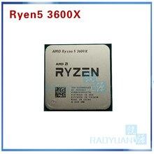 AMD Ryzen 5 3600X R5 3600X3.8 GHz שש ליבות עשר חוט 7NM 95W L3 = 32M 100 000000022 מעבד מעבד שקע AM4
