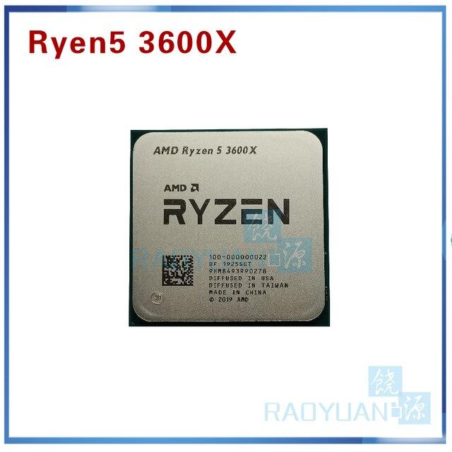 AMD Ryzen 5 3600X R5 3600X3.8 GHz Zes Core Twaalf Draad 7NM 95W L3 = 32M 100 000000022 CPU Processor Socket AM4