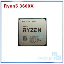 Amd ryzen 5 3600x r5 3600x 3.8 ghz, seis núcleo doze rosca 7nm 95w l3 = 32 soquete am4 do processador cpu, m 100 000000022