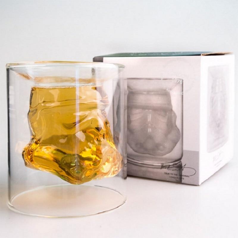 Ручная работа Звездные войны Дарт Вейдер белый рыцарь Железный человек 3D кружка стеклянной чашки для воды Пара Кружка креативный подарок кружка - Цвет: Прозрачный