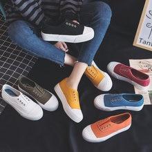 Kadın ayakkabı 2019 yaz yeni moda ayakkabılar kadın rahat katı şeker renk platformu kanvas kadınlar Casual Flats ayakkabı Sneakers