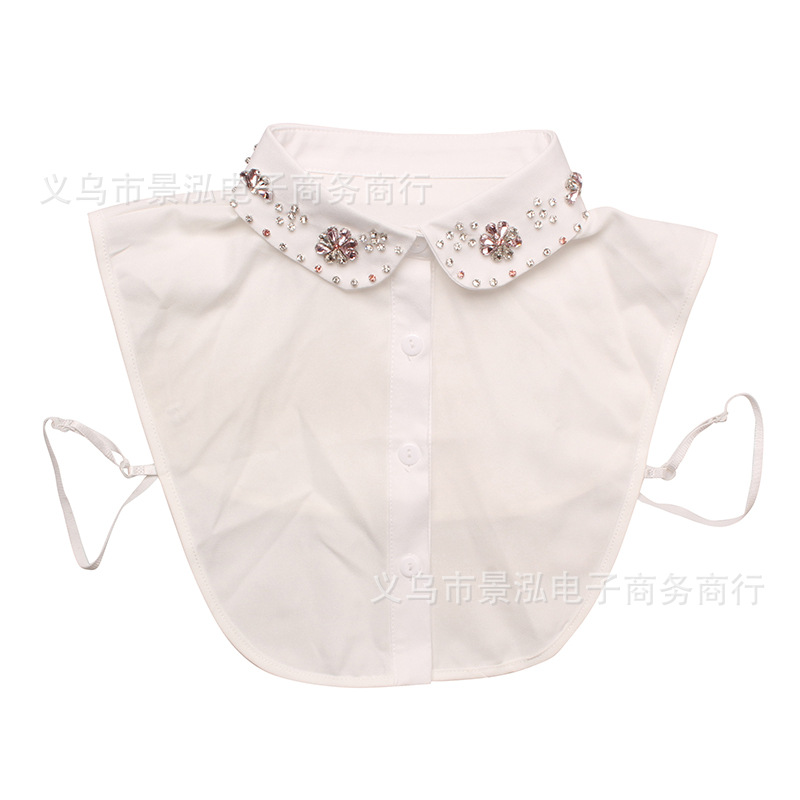 Diamond Set Underwear Fake Collar All Seasons Temperment Shirt Collar Colar