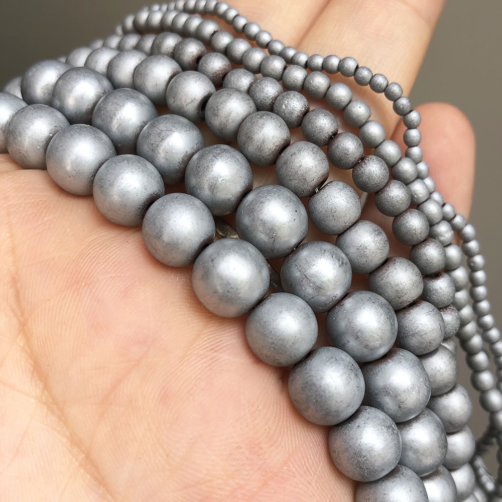 Hematite Beads 10mm Hematite Beads Non Magnetic 10 pcs Round Hematite Beads Jewelry Making DIY Craft Supplies