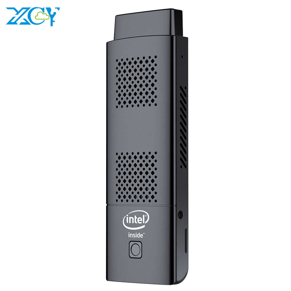 XCY Mini PC Stick Intel Celeron N4100 رباعية النوى 4GB LPDDR4 128GB eMMC HDMI 2.0 4K 60Hz 2.4G/5.0G WiFi بلوتوث 4.2 ويندوز 10