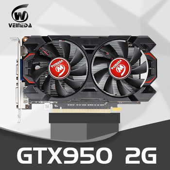 Оригинальная Видеокарта gtx 950 2 Гб 950 бит GDDR5 графическая карта для nVIDIA Geforce GTX Hdmi Dvi карта