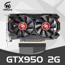 Placa de vídeo original gtx 950 2gb 128bit gddr5 placa gráfica para nvidia geforce gtx 950 dvi cartão