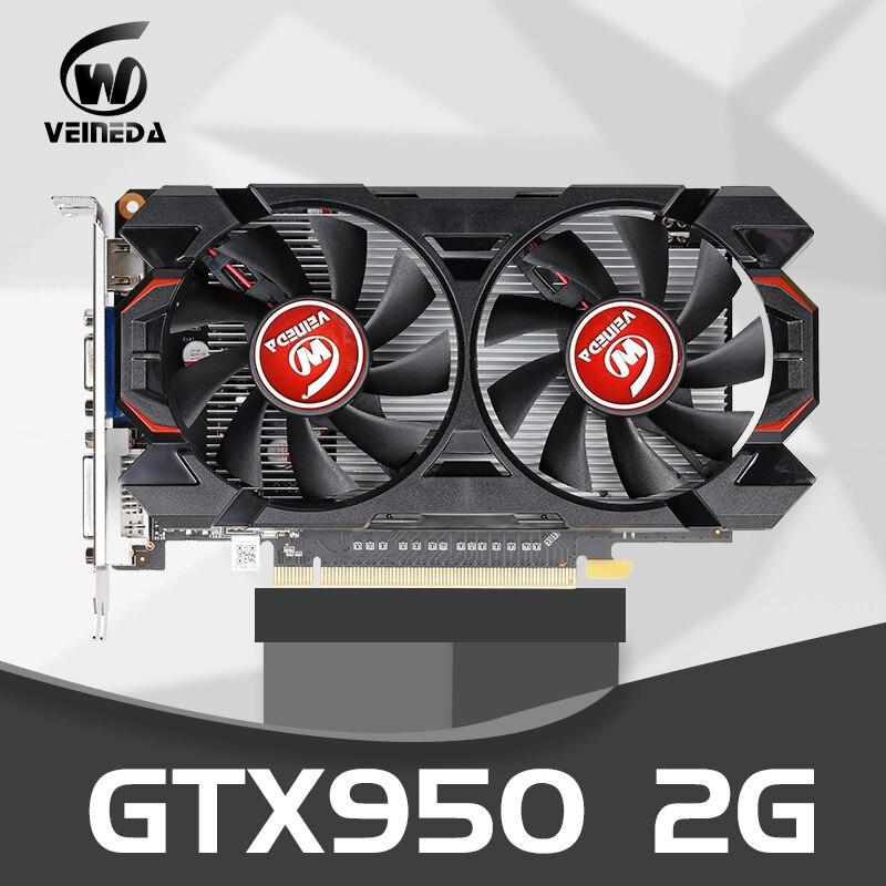 Оригинальная Видеокарта gtx 950 2 Гб 950 бит GDDR5 графическая карта для nVIDIA Geforce GTX Hdmi Dvi карта-0