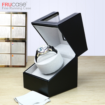 FRUCASE Single Watch Winder for automatic watches watch collector box storage battery support - discount item  20% OFF Watches Accessories