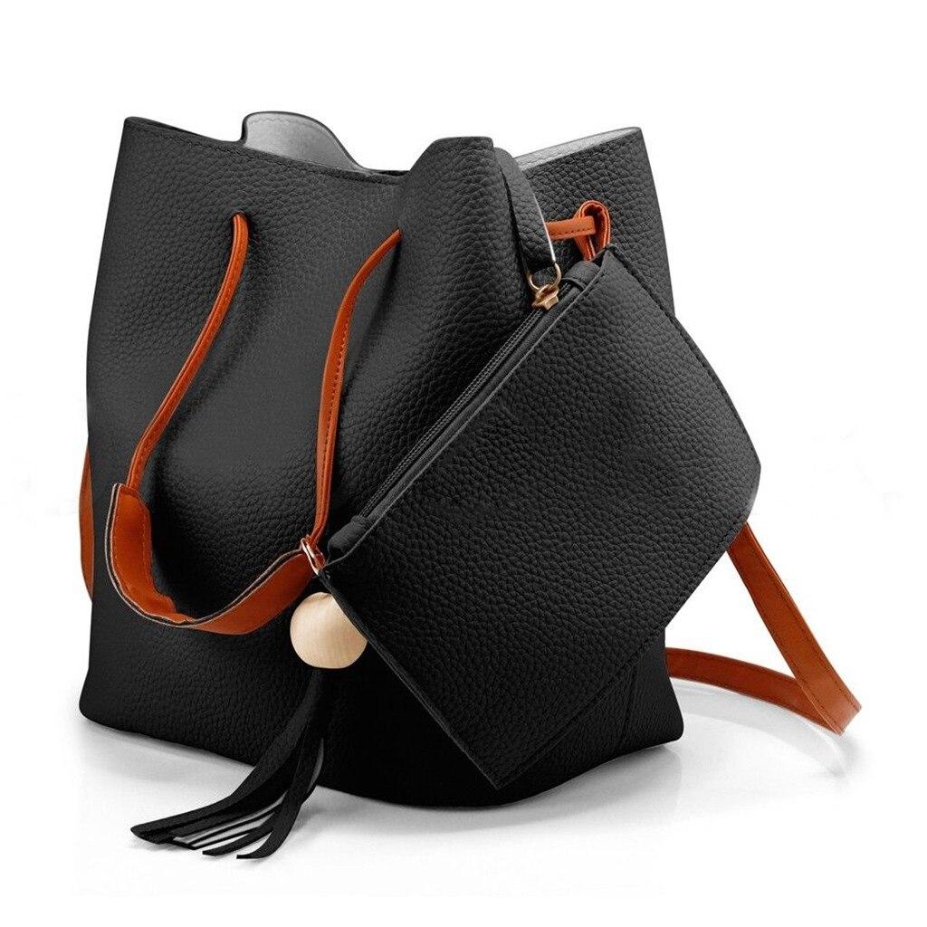 Women Tassel Purse Handbag Tote Messenger Satchel Cross Body Bags New Fashion Female PU Leather Shoulder Messenger Handbags