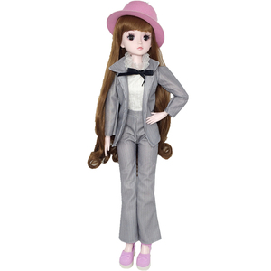 1/3 60cm Doll Accessories Striped Suit with Hat Fashion Suit Clothes for BJD Doll DIY Toys for Girl Coat Dress Suit
