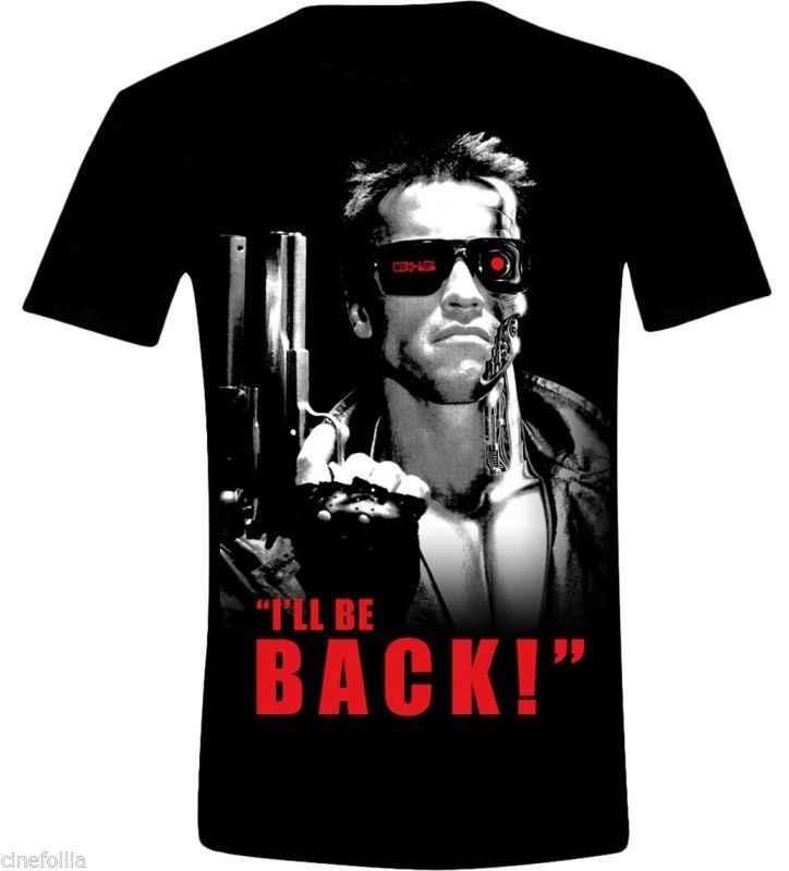 Freddo Disegni Della Camicia Manica Corta Di Natale T Shirt Terminator I Ll Essere di Nuovo Schwarzenegger T 800 Maglia Camicia Per Gli Uomini 013302