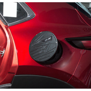 Image 1 - For 2020 Mazda CX 30 CX30 ABS Carbon Fiber Gasoline Tank Cap Fuel Tank Cover Protective Sticker Sticker Car Styling Accessories