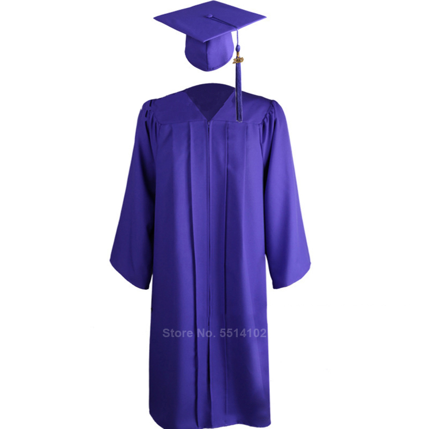 Unisex Adult Graduation Gown Choir Robe Cap Clothing Set For Women Man High School And Bachelor Graduate Collage Student Uniform