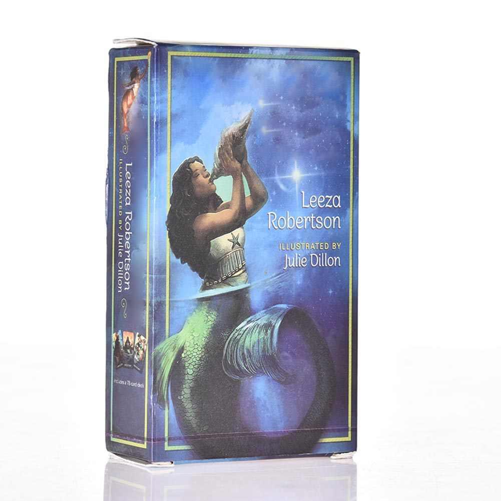 78 pçs/set Todos Inglês Versão Em Caixa de Cartão de Jogo de Cartas de Tarô Tarô Sereia Tarot Cartões de Jogos de Tabuleiro