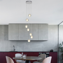 Modern Crystal Glass Ball LED Pendant Lamp Lighting LOFT Staircase pendant Lights Bar Kitchen Fixtures Villa Duplex Apartment nordic crystal glass ball led pendant lights loft fixtures staircase pendant lamps bar hanging lamp hotel villa duplex apartment
