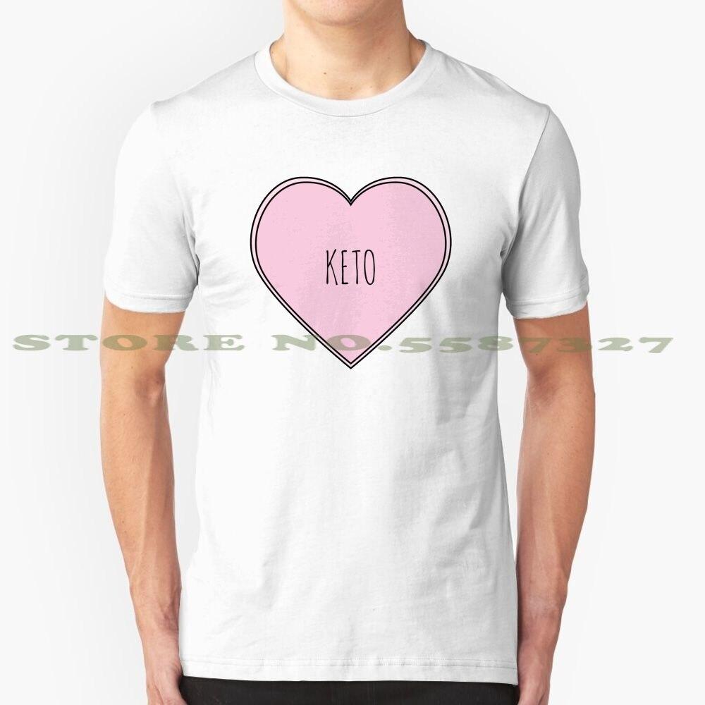 Keto Heart Graphic Custom Funny Hot Sale Tshirt Keto Ketogenic Keto Diet Low Carb Diet Ketosis Health Fitness Funny Paleo